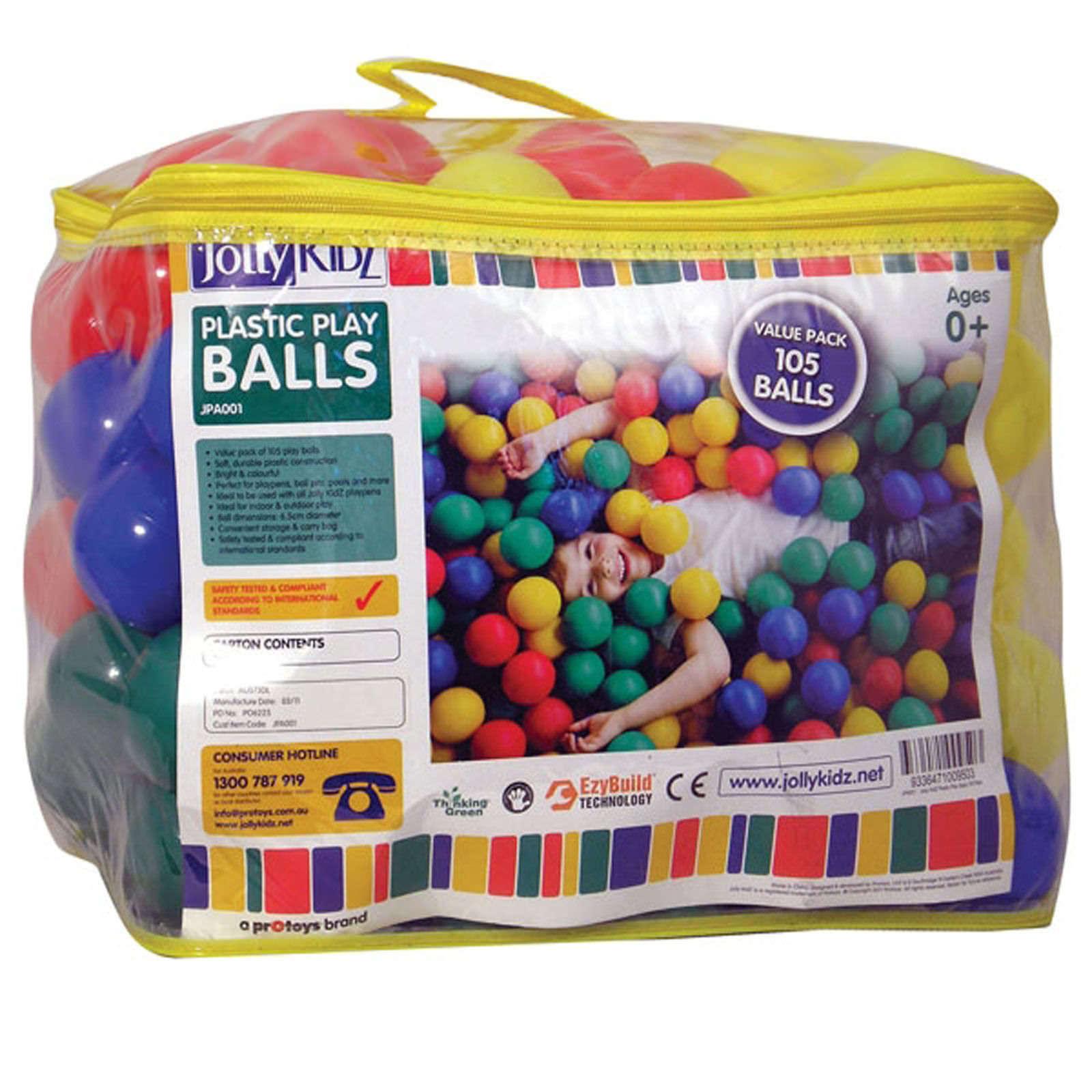 Jolly Kidz Plastic Play Balls