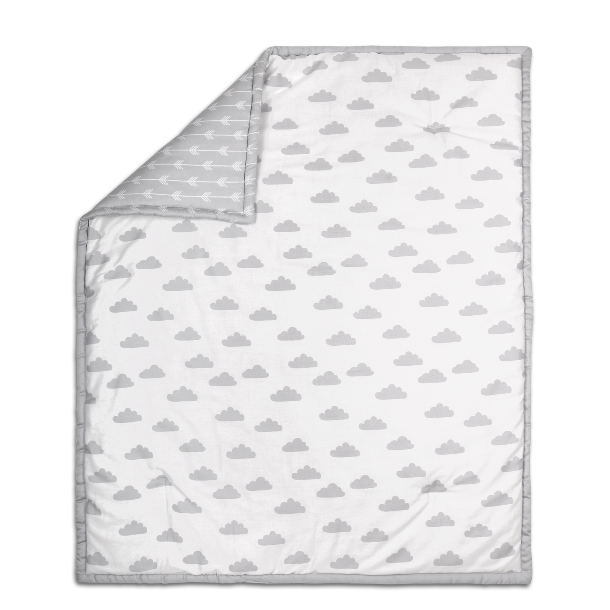 Peanut Shell Grey Cloud Quilt