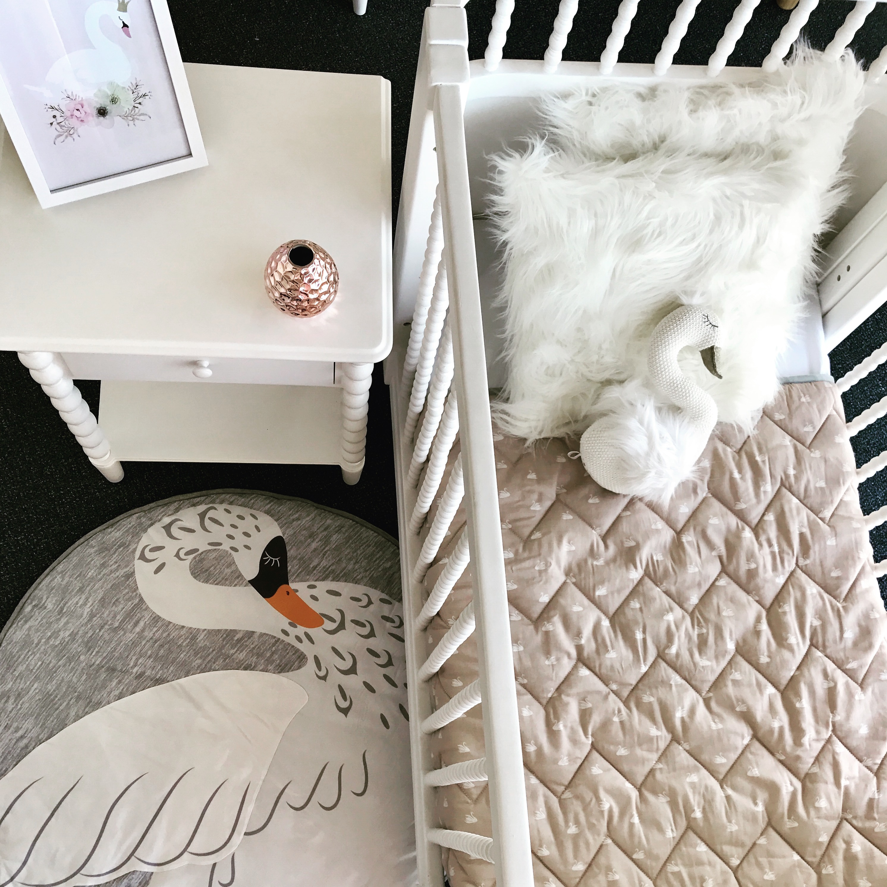 Mister Fly Swan Play Mat Babyroad