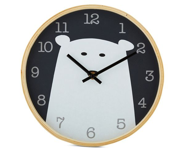 Bear Wooden Clock