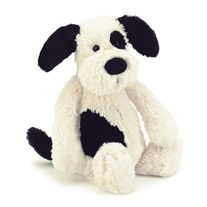 Jelly Cat Bashful Black Cream Puppy