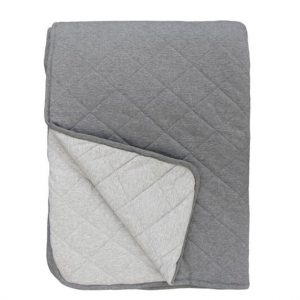 Mister Fly Charcoal Grey Reversible Cot Quilt
