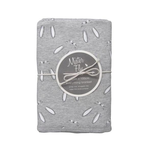 Mister Fly Grey Bun Bun Blanket