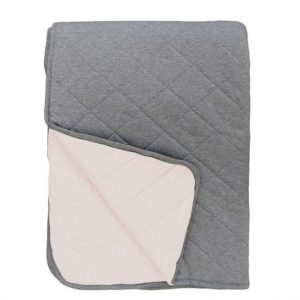 Mister Fly Pink Charcoal Reversible Cot Quilt