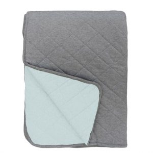 Mister Fly Seafoam Charcoal Reversible Cot Quilt