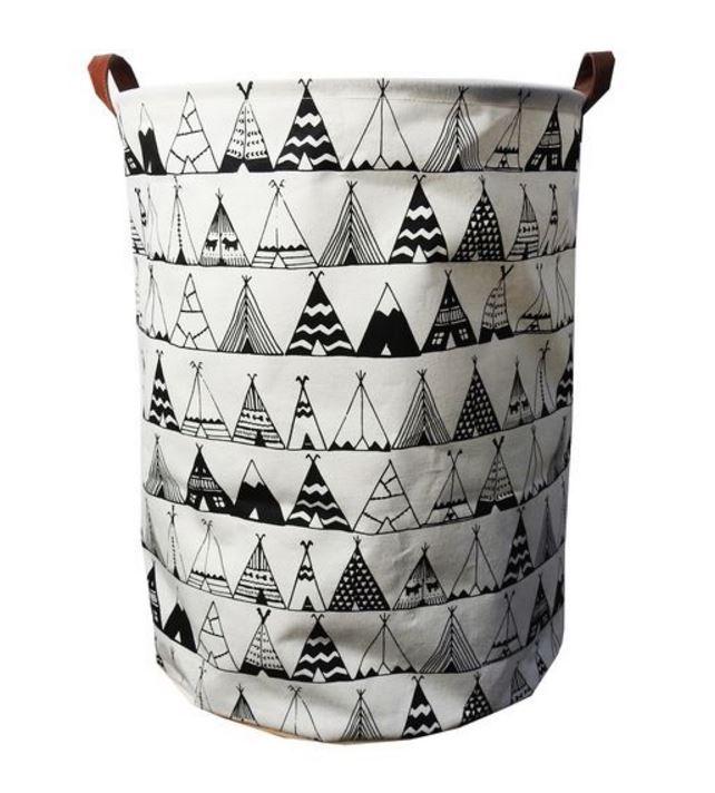 Teepee Canvas Storage Basket