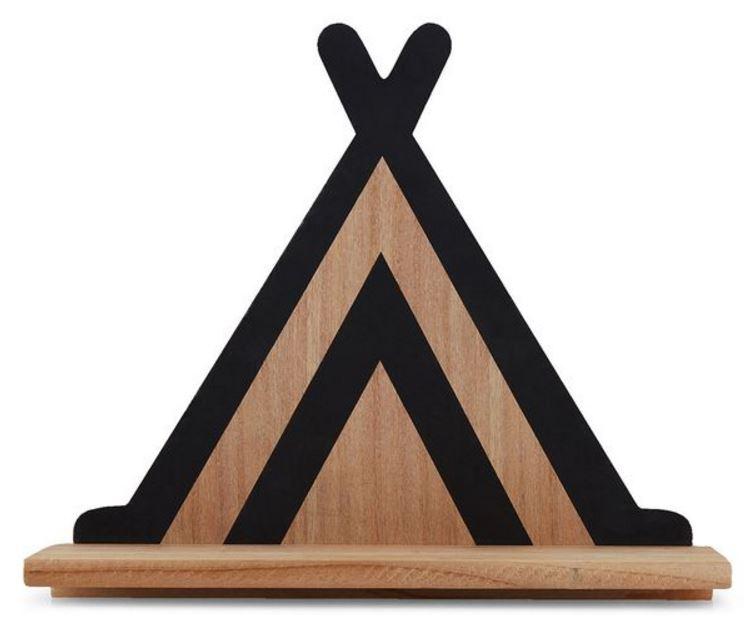 Teepee Wooden Shelf