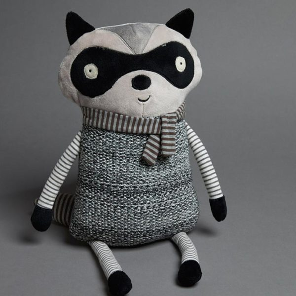Jiggle & Giggle In the Woods Grey Raccoon Toy