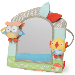 Skip Hop Grey Pastel Treetop Friends Activity Mirror
