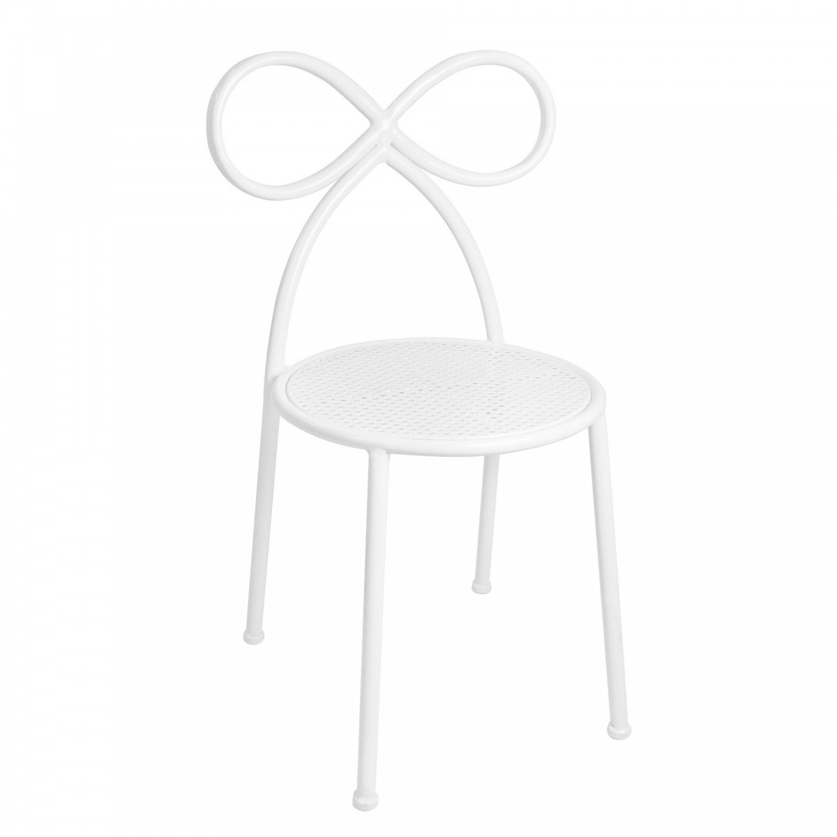 Madras Link White Bow Chair