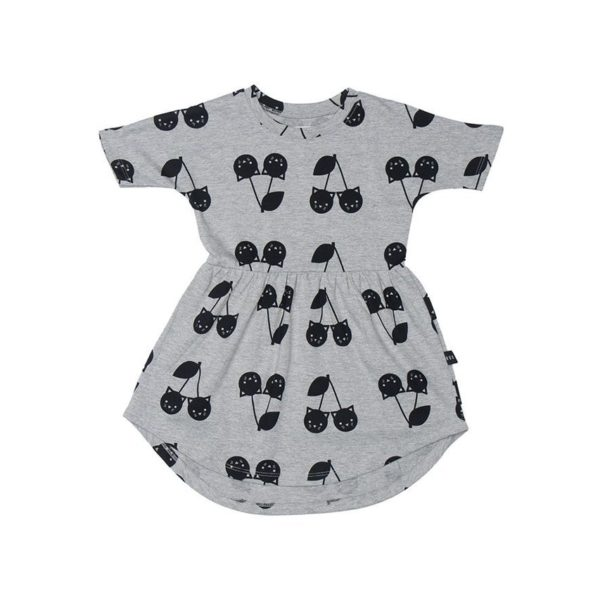 hux grey cat swirl dress