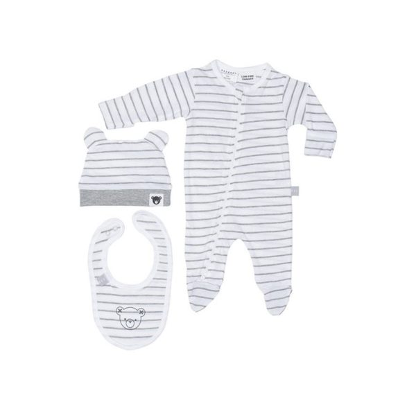 hux grey stripe gift set