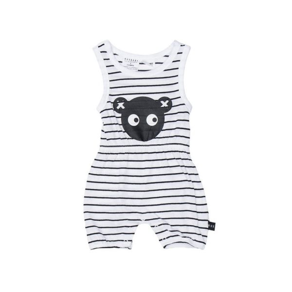 hux stripe bear playsuit