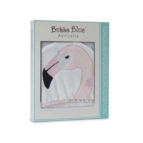 Bubba Blue Flamingo Novelty Hooded Towel