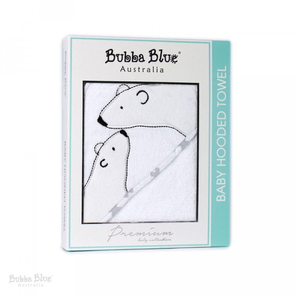 Bubba Blue Polar Bear Velour Hooded Towel