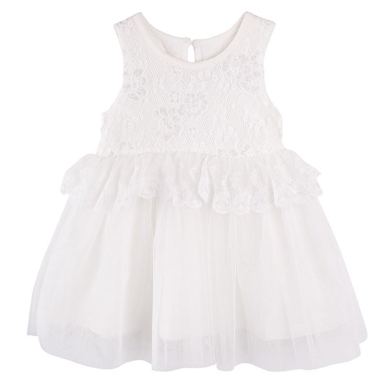 Designer Kidz Ivory Larissa Lace Dress