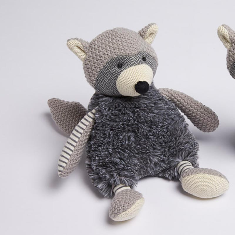 Jiggle and Giggle Grey Raccoon Plush Toy