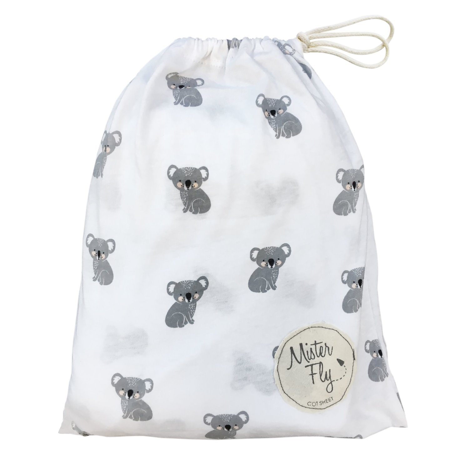 Mister Fly Koala Fitted Cot Sheet