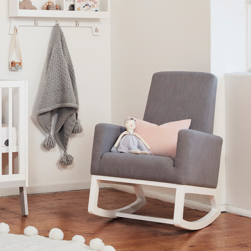 Bebe care beaux stone wash rocking chair babyroad for Chaise 0 bascule