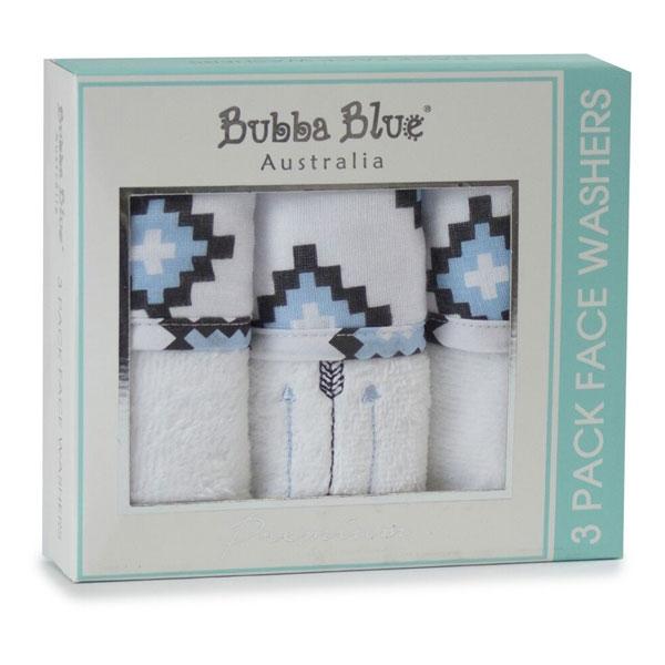 Bubba Blue Mr Fox Face Washers