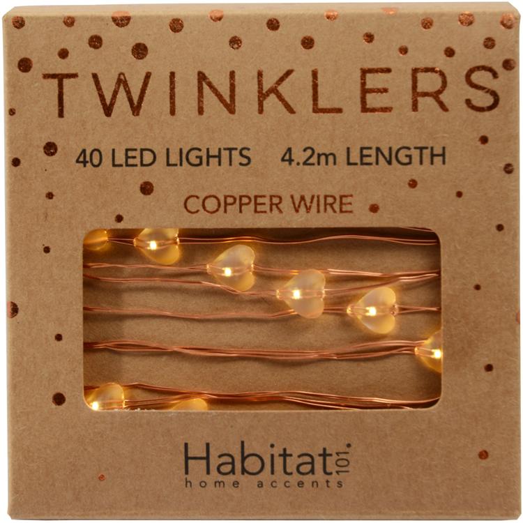 Habitat Copper Hearts Twinklers