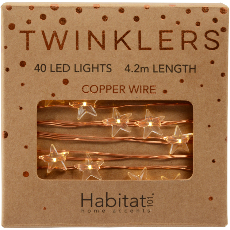 Habitat Copper Stars Twinklers