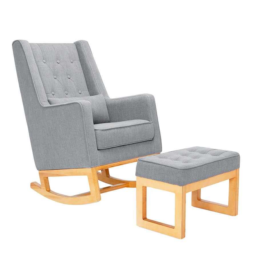 Il Tutto Casper Rocking Chair & Ottoman Natural Legs