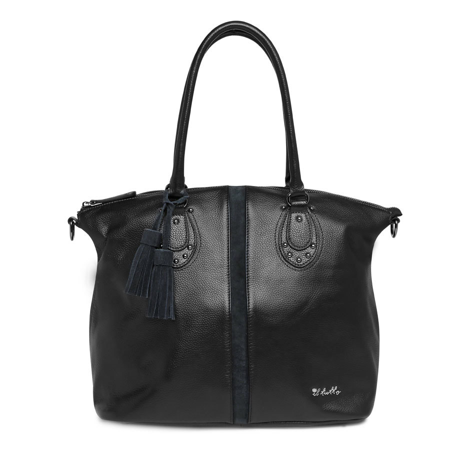 Il Tutto Ellyse Black Tote Nappy Bag