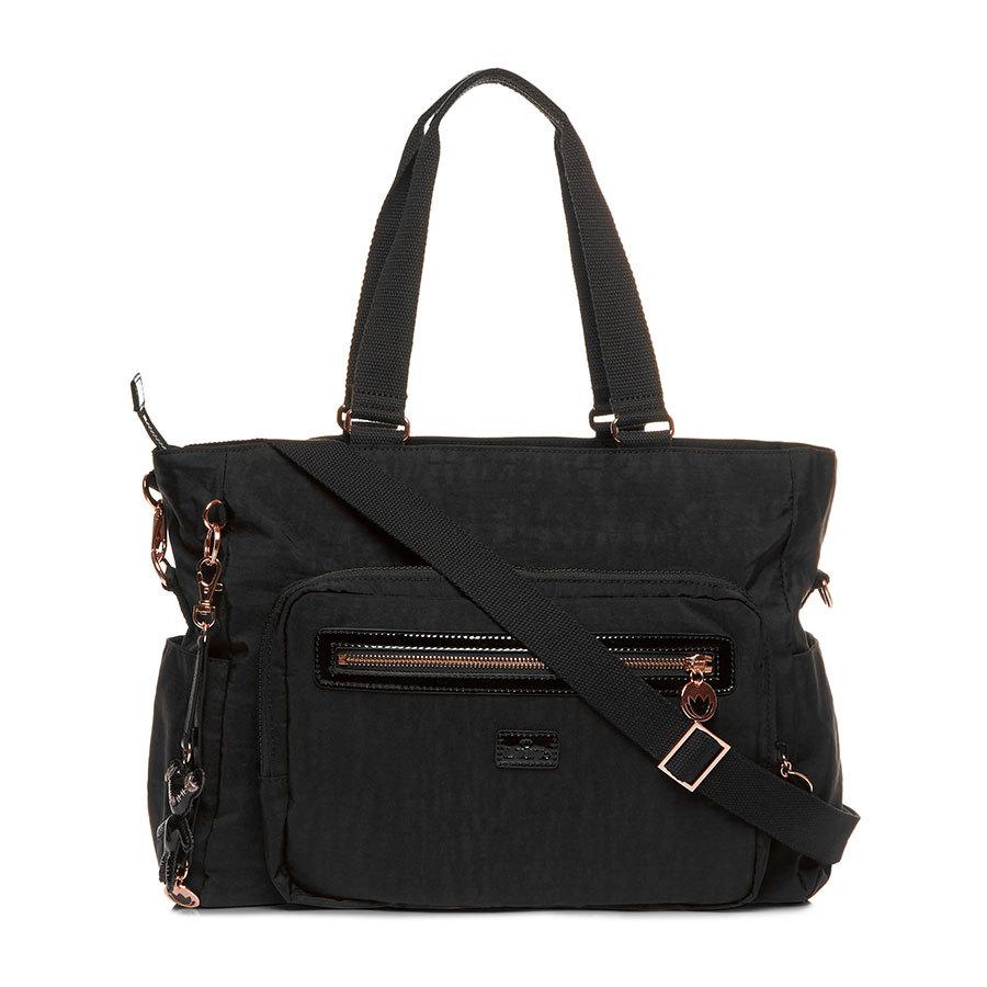 Il Tutto Layla Black and Rose Gold Tote Nappy Bag