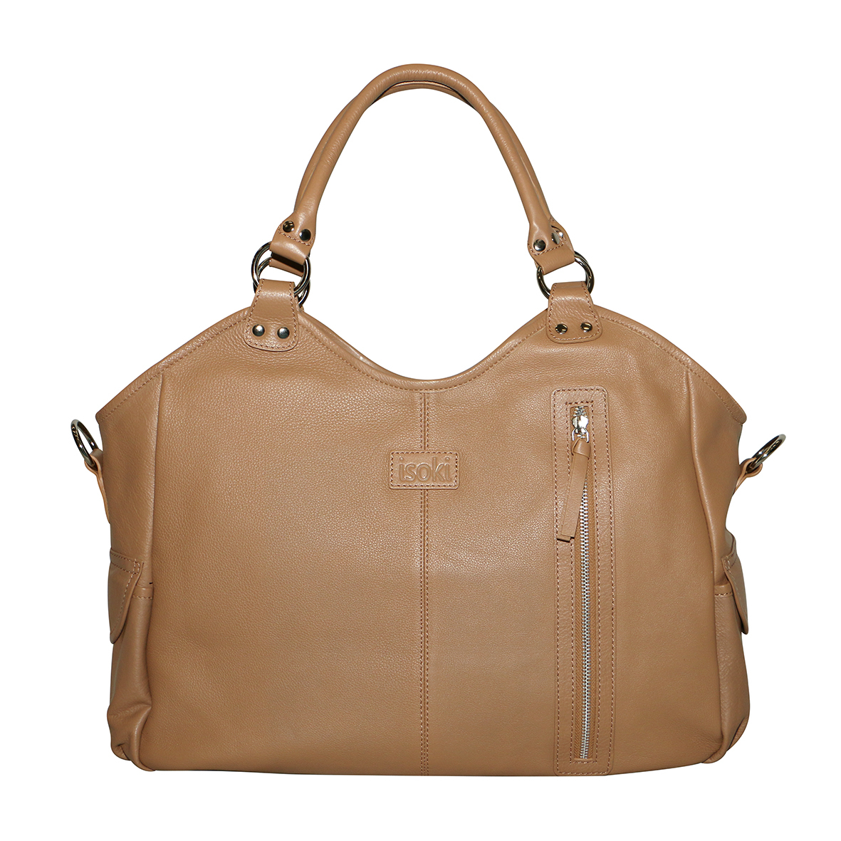 Isoki Queenscliff Leather Hobo Angel Nappy Bag