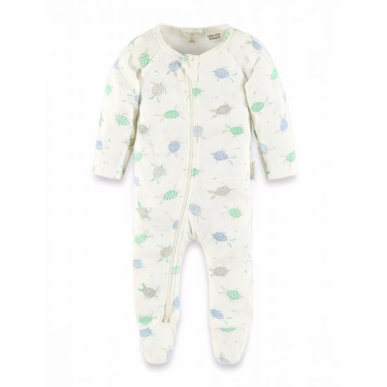 Purebaby Sea Turtle Zip Growsuit