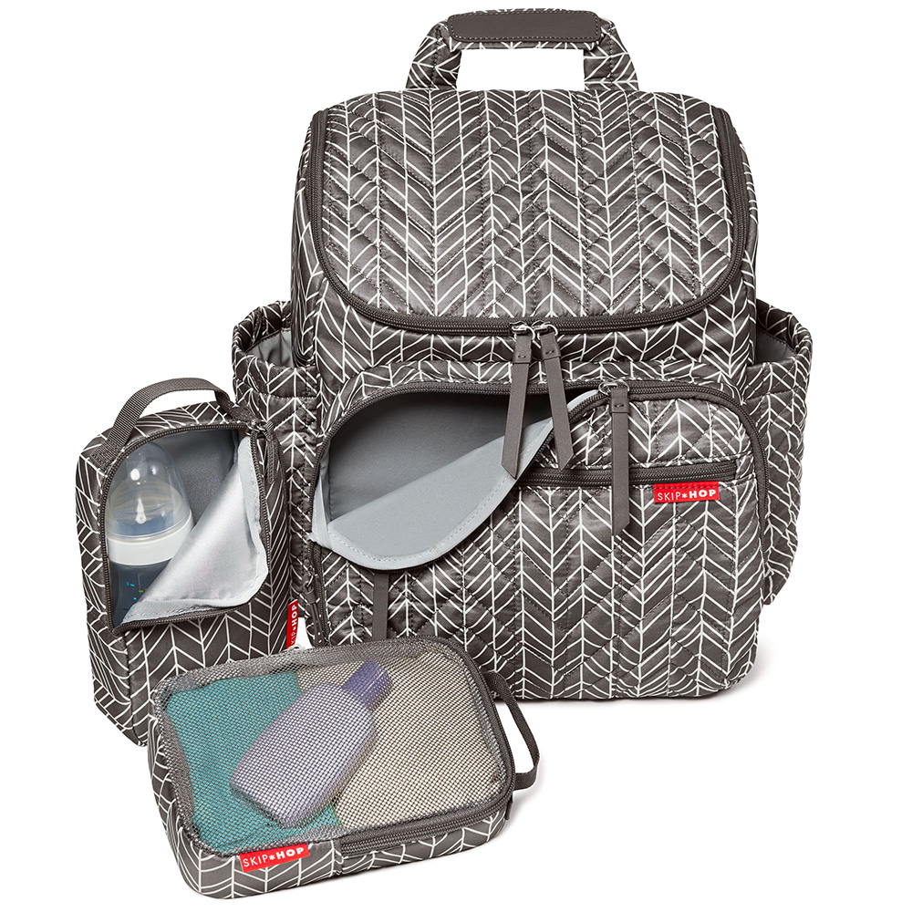 Skip Hop Grey Feather Forma Backpack