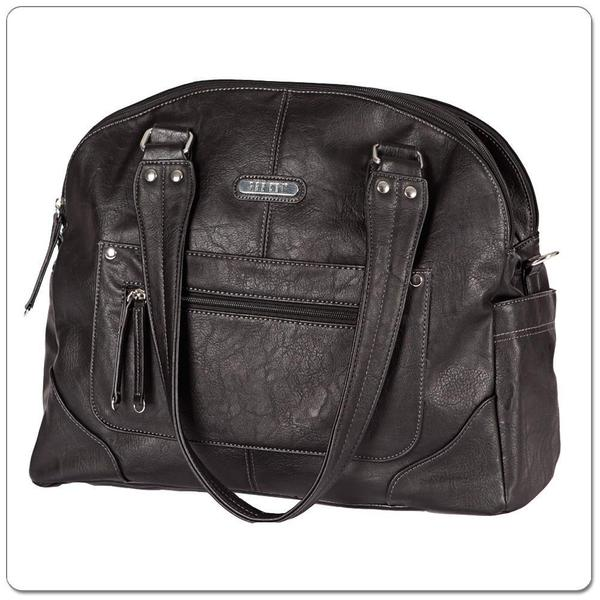 Vanchi Tuscan Bowler Bag Black