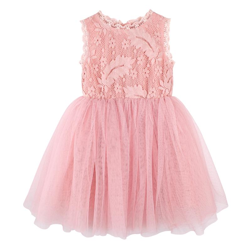 Designer Kidz Pink Daisy Lace Tutu