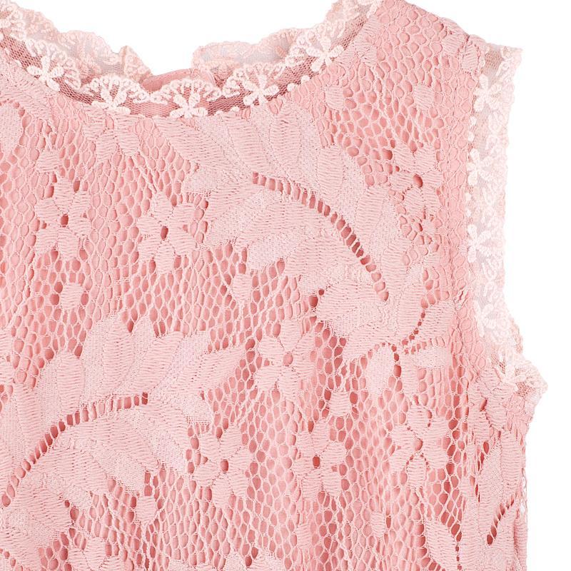 Designer Kidz Clothing | Designer Kidz Pink Daisy Lace Tutu Babyroad