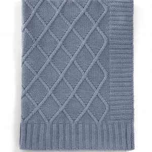 Mamas & Papas Denim Blue Knitted Blanket