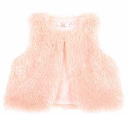 Britt Pink Faux Fur Vest