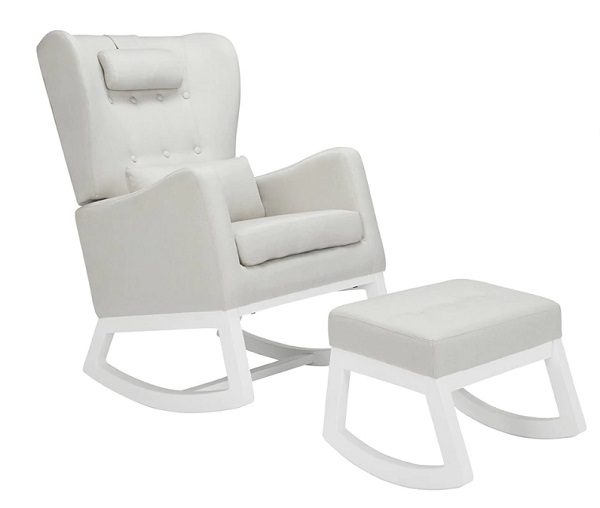 Il Tutto Mimmie Rocking Chair Grey - White Legs