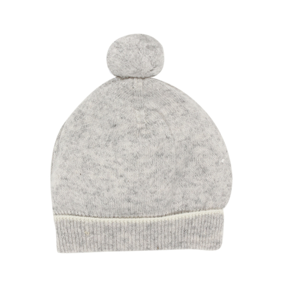 Bebe Grey Marle Cashmere Knit Beanie