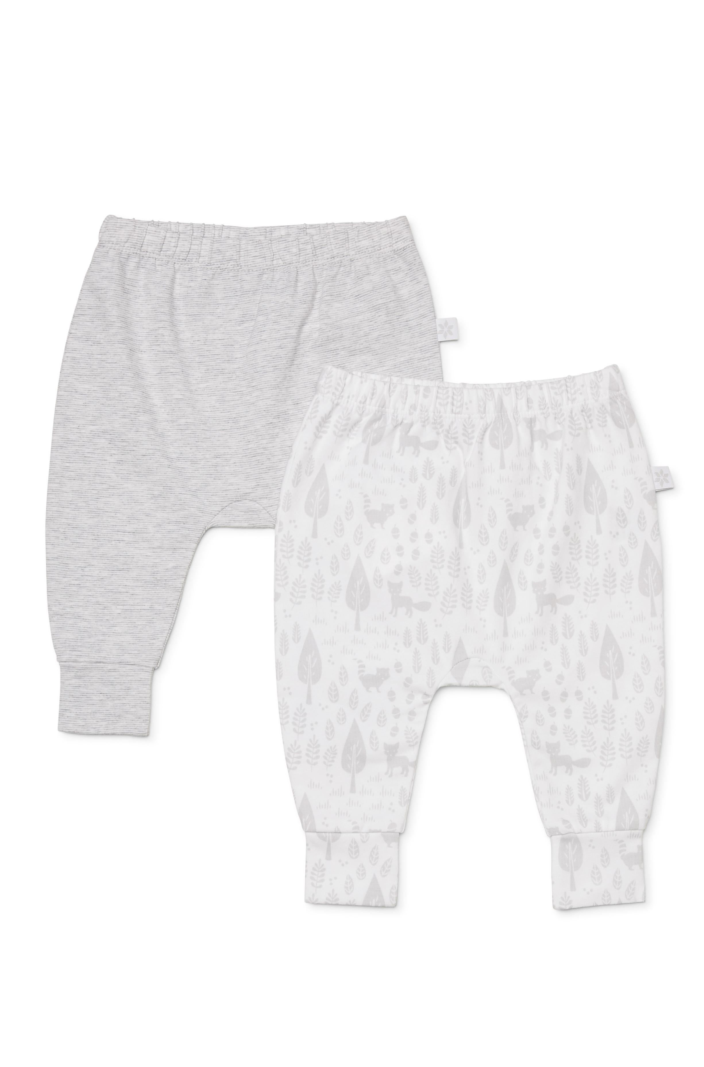 Marquise Grey Stripe Print Leggings 2 Pack