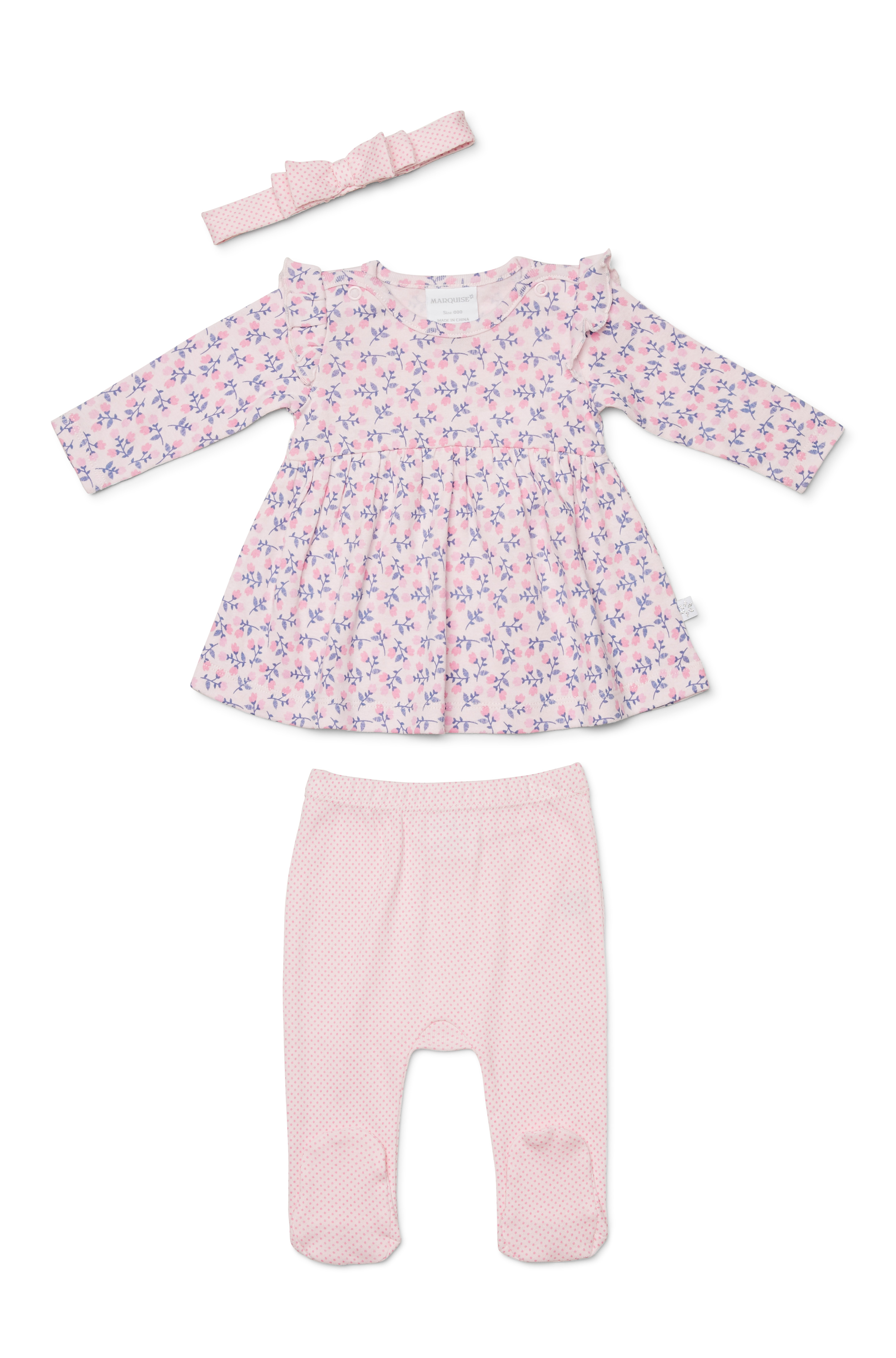 Marquise Pink Floral 3 Piece Set