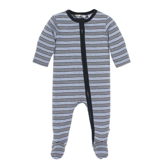 Bebe Tobias Stripe Zip Romper