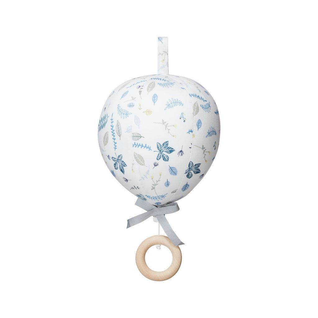 Cam Cam Copenhagen Balloon Music Mobile Pressed Leaves Blue