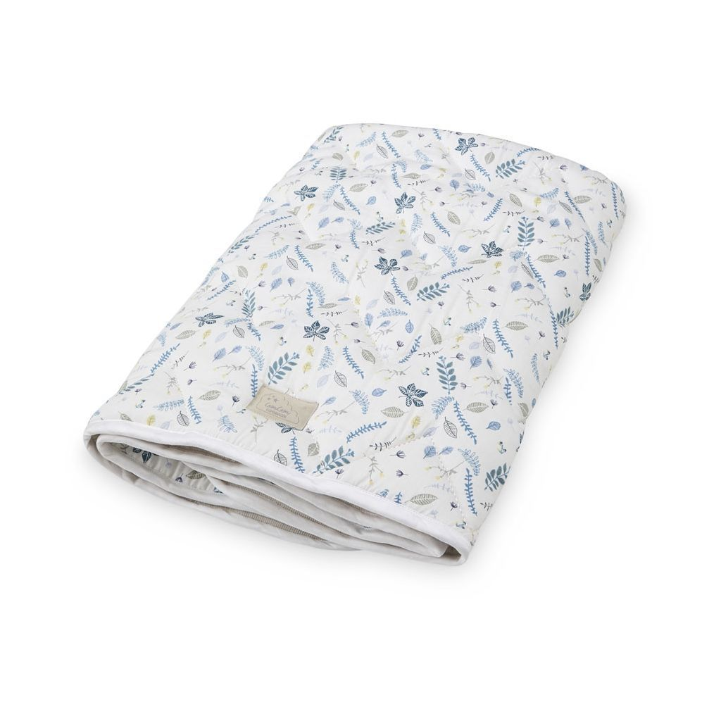 Cam Cam Copenhagen Pressed Leaves Blue Baby Blanket