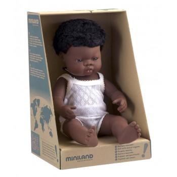 Miniland African Baby Boy 38cm Doll