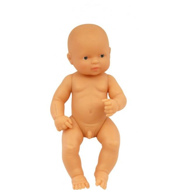 Miniland Caucasion Baby Boy 32cm Doll