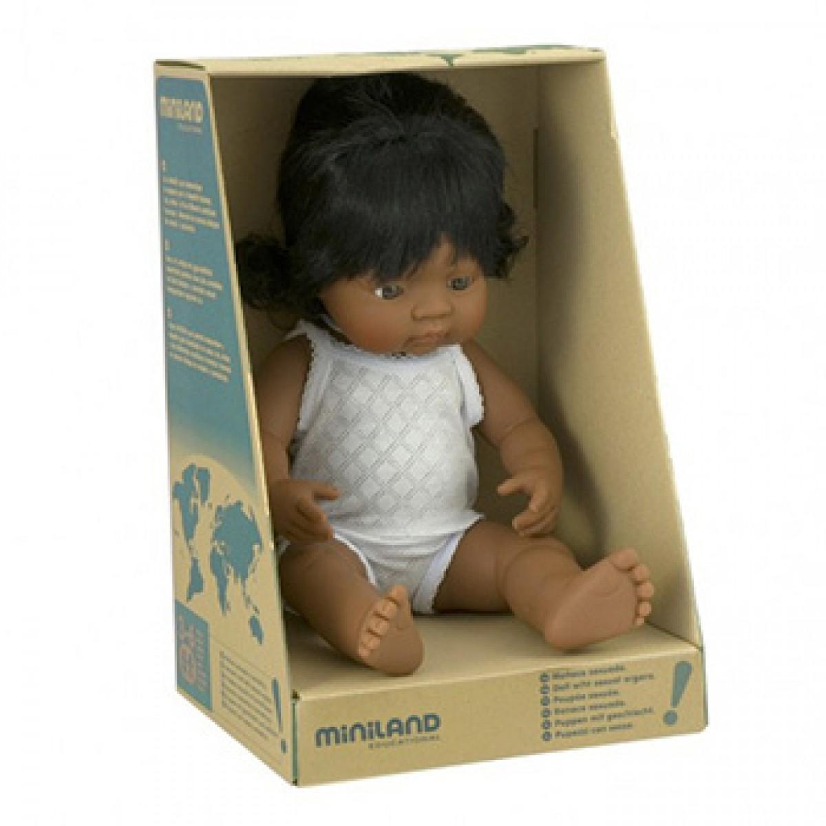 Miniland Hispanic Baby Girl 38cm Doll