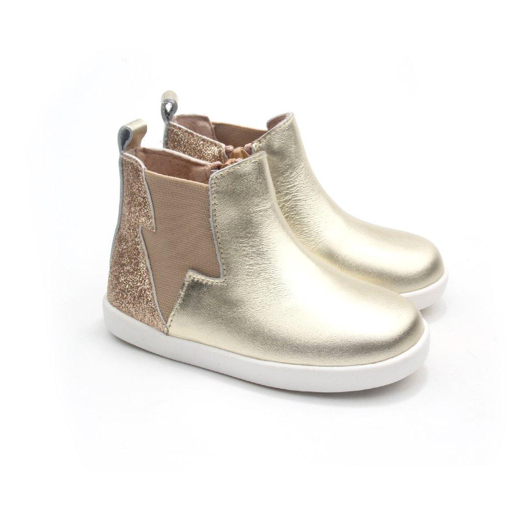 Pretty Brave Electric Gold Glitter Boot