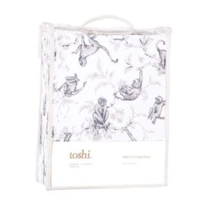 Toshi Monkeys Knit Fitted Sheet