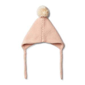 Wilson and Frenchy Peachy Pink Knitted Bonnet